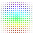 clock shape halftone spectrum grid vector image vector image