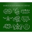 collection of Irish hand drawn logo templates vector image vector image