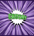 comic book purple concept vector image