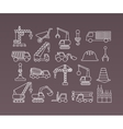Construction icons Cranes Thin Line vector image vector image