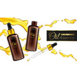 cosmetic essence oil 3d realistic banner vector image vector image