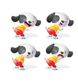 cute dog character vector image vector image