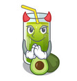 devil avocado smoothies are isolated on characters vector image vector image