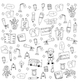 Doodle of education tools vector image vector image