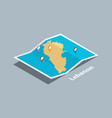 explore lebanon maps with isometric style and pin vector image