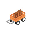 farm trailer with wheat package harvest vector image