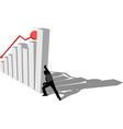 finance diagram is falling down