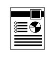 financial document report pie chart vector image vector image