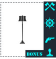 floor lamp icon flat vector image