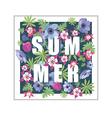 Floral Summer Greeting Card Design vector image