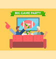 friends watching a football game on tv vector image