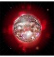 glowing disco ball with lens flares vector image vector image