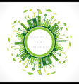 go green or save earth background concept vector image vector image