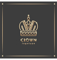 Golden crown logotype vector image vector image
