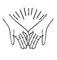 hands making promise icon flat vector image vector image