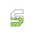 icon letter s science green color vector image vector image