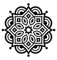 indian mandala art geometric design vector image