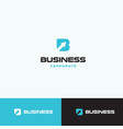 letter b with arrow up logo concept for business vector image