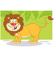 Lion jungle cartoon vector image vector image
