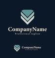 logo design template arrow down triangle vector image