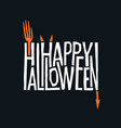 logotype design abstract halloween holiday sign vector image vector image
