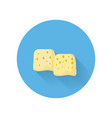 moldy cheese flat style icon vector image vector image