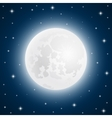 Moon with shining stars vector image vector image
