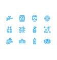 paintball game flat line icons outdoor