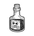 poison venom bottle sketch vector image vector image