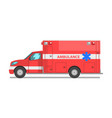 red ambulance car emergency medical service vector image