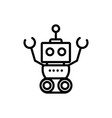 robot mascot machine technology character vector image