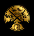 rock fest icon design music festival vector image vector image