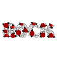 rock red roses vector image