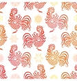 Roosters seamless pattern background Symbol of vector image