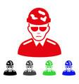 sad swat soldier icon vector image vector image