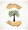 save tree concept vector image vector image