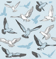 seamless pattern with pigeon silhouette vector image