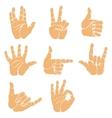set hand gesture vector image vector image