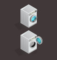 set of isolated washing machine icon vector image vector image