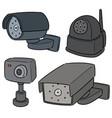 set security camera vector image vector image