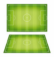 soccer field collection football fields top view vector image