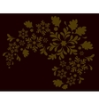 The pattern of the Golden flowers Eps10 vector image vector image