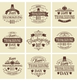 Typographic Thanksgiving Design Set vector image vector image