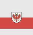 tyrol flag vector image vector image