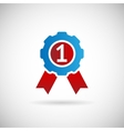 Victory Prize Award Symbol Badge With Ribbons vector image vector image