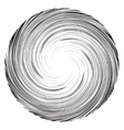 Vortex speed lines background Collapsar on white vector image vector image