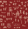 warli painting traditional indian tribal art vector image vector image