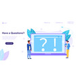 web page template for have a question vector image