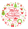 Christmas Round Label vector image
