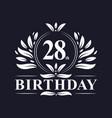 28th birthday logo 28 years birthday celebration